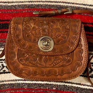 Vintage Leather Hand Tooled